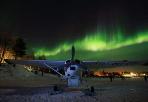 Lapland Northern Lights Eagle-Eye View in Finland