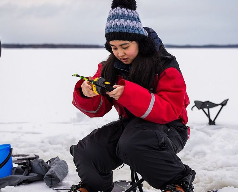 Lapland Snowmobile & Arctic Ice Fishing Experience