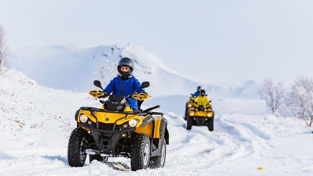 Lapland Winter Quad Bike Ride in the Arctic Circle