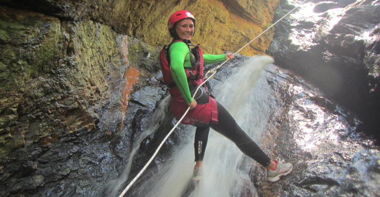South Africa Kloofing experience: Canyoning in Plettenberg Bay