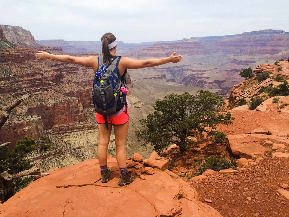 Hiking grand canyon in Nevada USA pixabay royalty free image