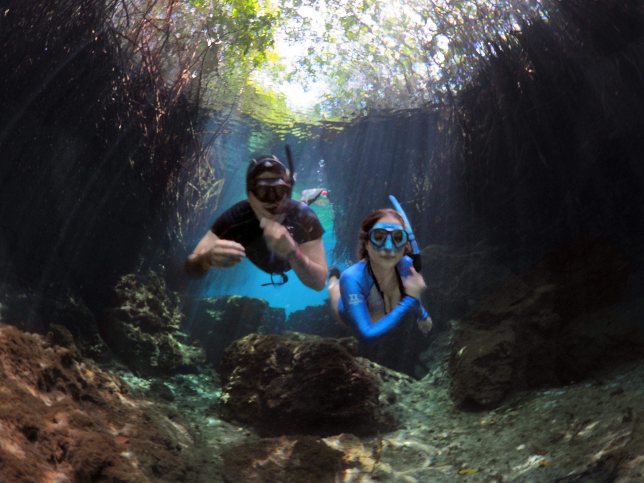 Playa Del Carmen Snorkelling: Two Cenotes in Mexico