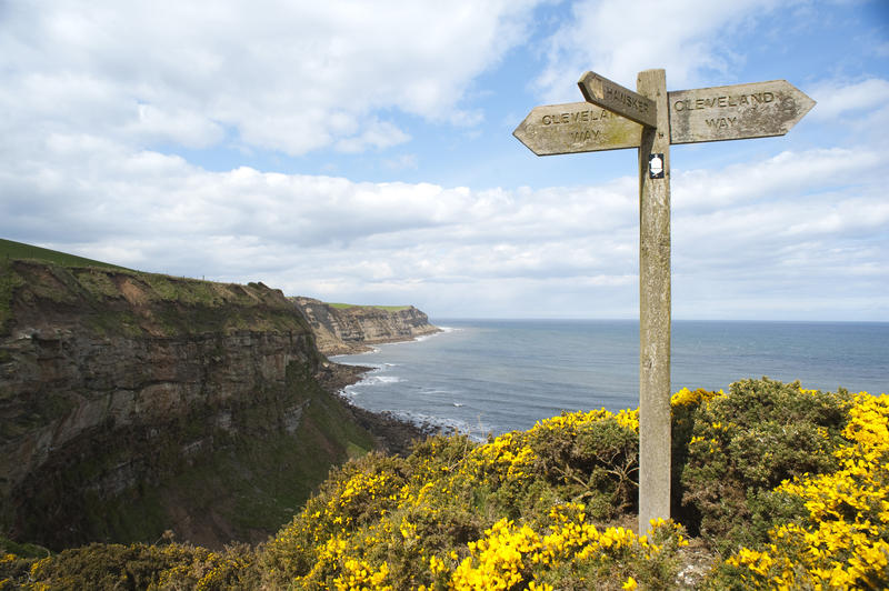 Cleveland way one of the best routes for long distance trekking in Britain Creative commons image by Photoeverywhere from freeimageslive.co.uk