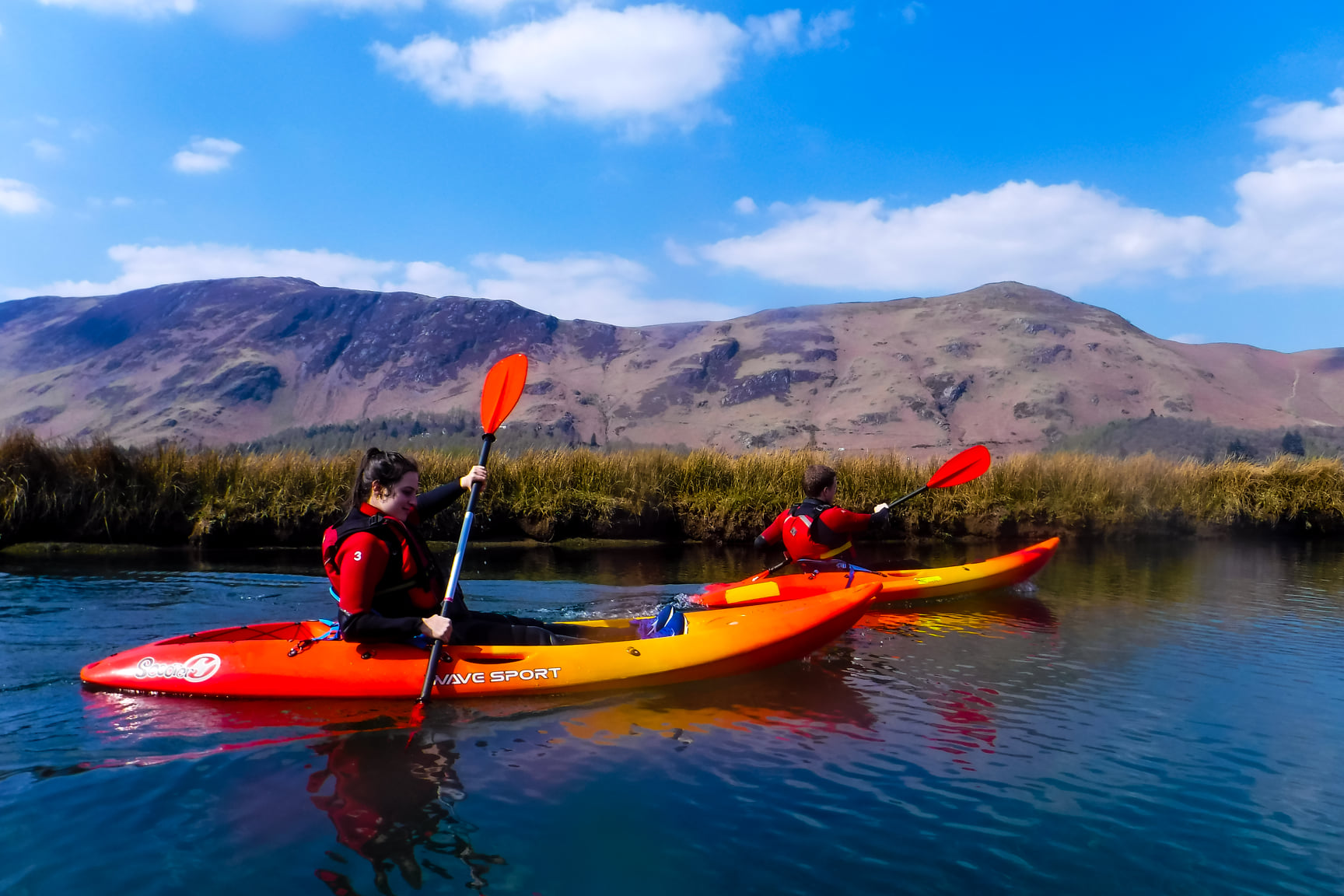 Lake district kayak expereince: Derwentwater kayaking Day Trip