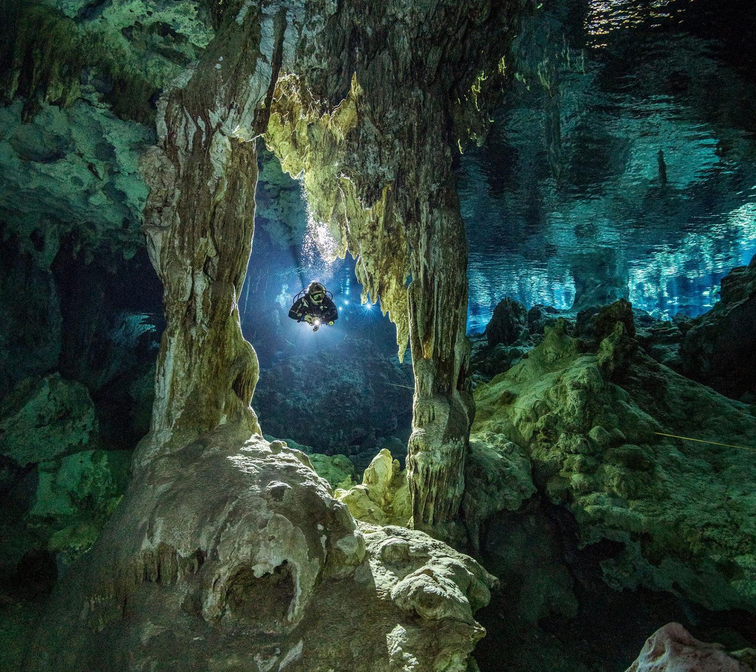 Playa Del Carmen Cavern Scuba Diving in Mexico (2 cenotes)