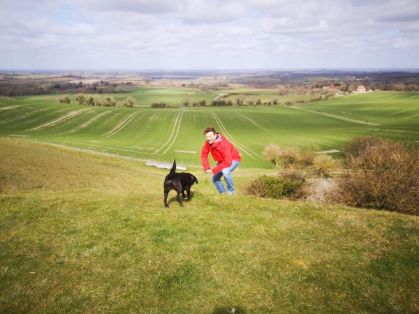 Odin a Durable Lightweight Waterproof jacket photo on south downs Sussex