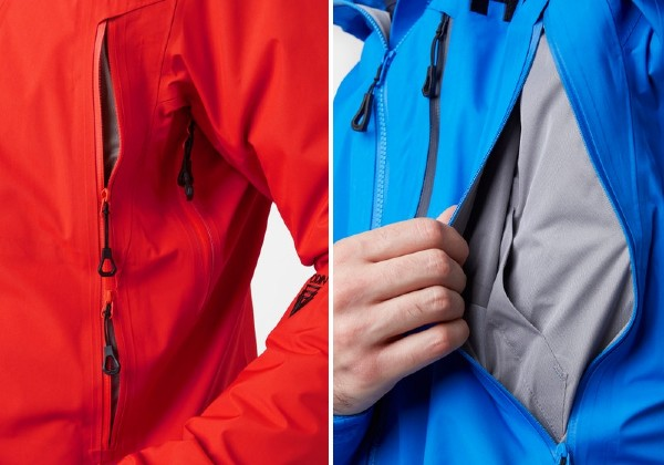 Pocket details Odin 9 Worlds 2.0 Shell Jacket by helly Hansen