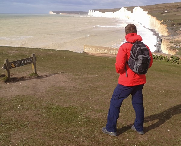 Review of Odin 9 Worlds 2.0 Shell Jacket by Helly Hansen. Photo hiking at Birling Gap Sussex