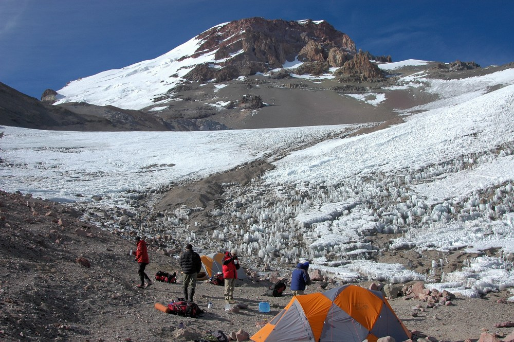 Summit Aconcagua via Ameghino Valley and upper Guanacos Traverse
