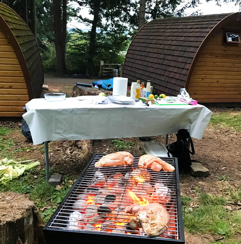 Herefordshire outdoor adventure BBQ at Woodside Lodges in Ledbury by Rob-Stewart