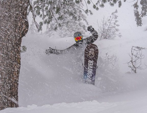 snowboarder snowboarding in a blizzard Pixabay royalty free image