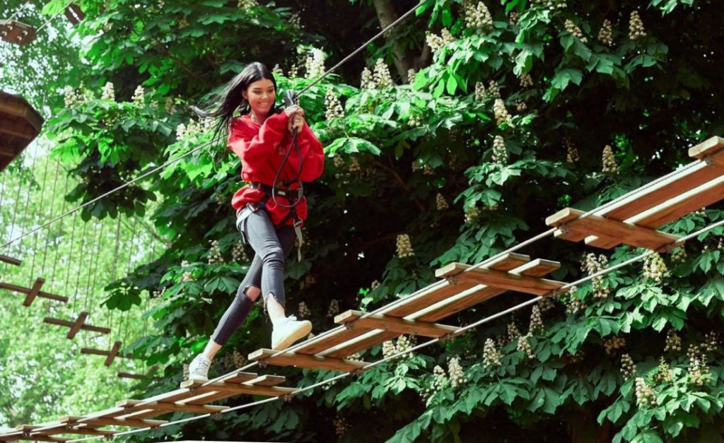 Go Ape high ropes and zipline experience one of the Top 21 capital city adventures in England Image courtesy of Go ape