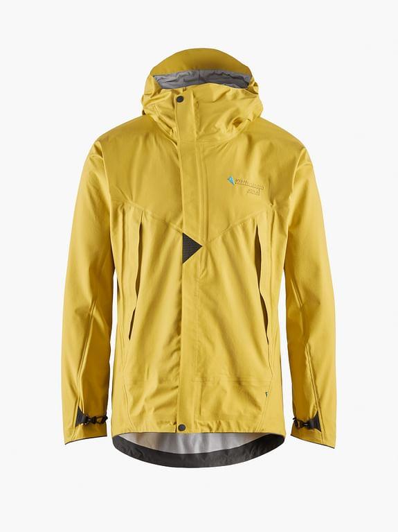 Klattermusen waterproof jacket in yellow