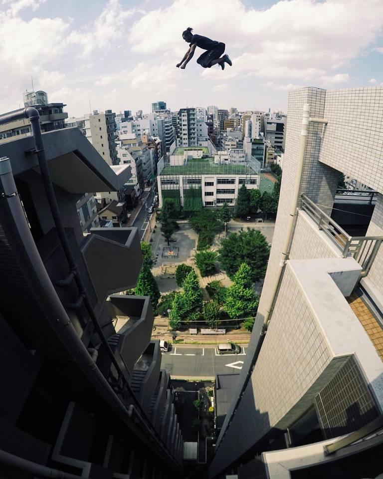best freerunning destinations Image of Josh Burnett-Blake in Japan courtesy of Storror