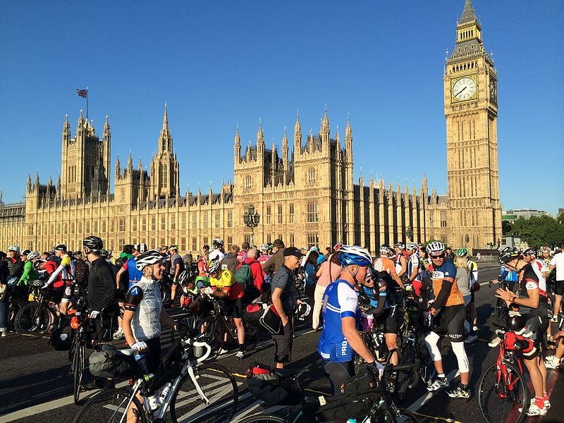 cycling one of the best london activities 2014 Start trans continental race wikimedia CC image by Cm2white