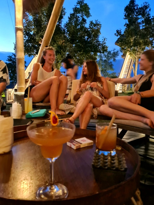 Cocktail party during indonesia divemaster course in Nusa Penida Photo by Cara Rees