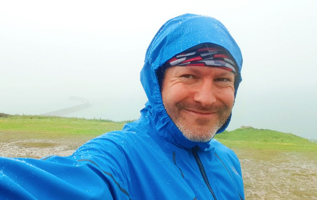 North Face Flight Series jacket review in the rain in Newhaven