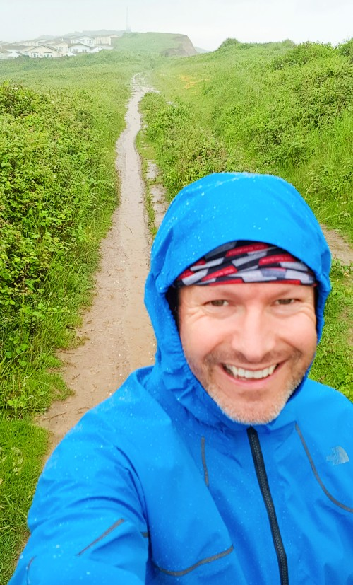 Review of North Face Futurelight running waterproof in the rain in Newhaven