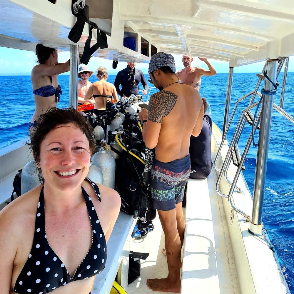 Week 1 of Indo Ocean Project marine conservation and divemaster course Photo by Cara Rees