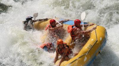 White Water rafting the Zambezi river Flickr CC image by Jason Shallcross