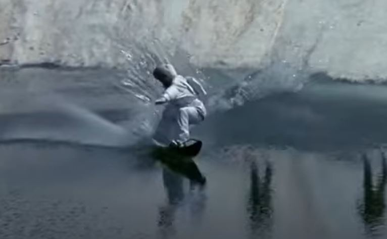 Does James Bond prefer skiing or snowboarding - snow scene - A View To A Kill