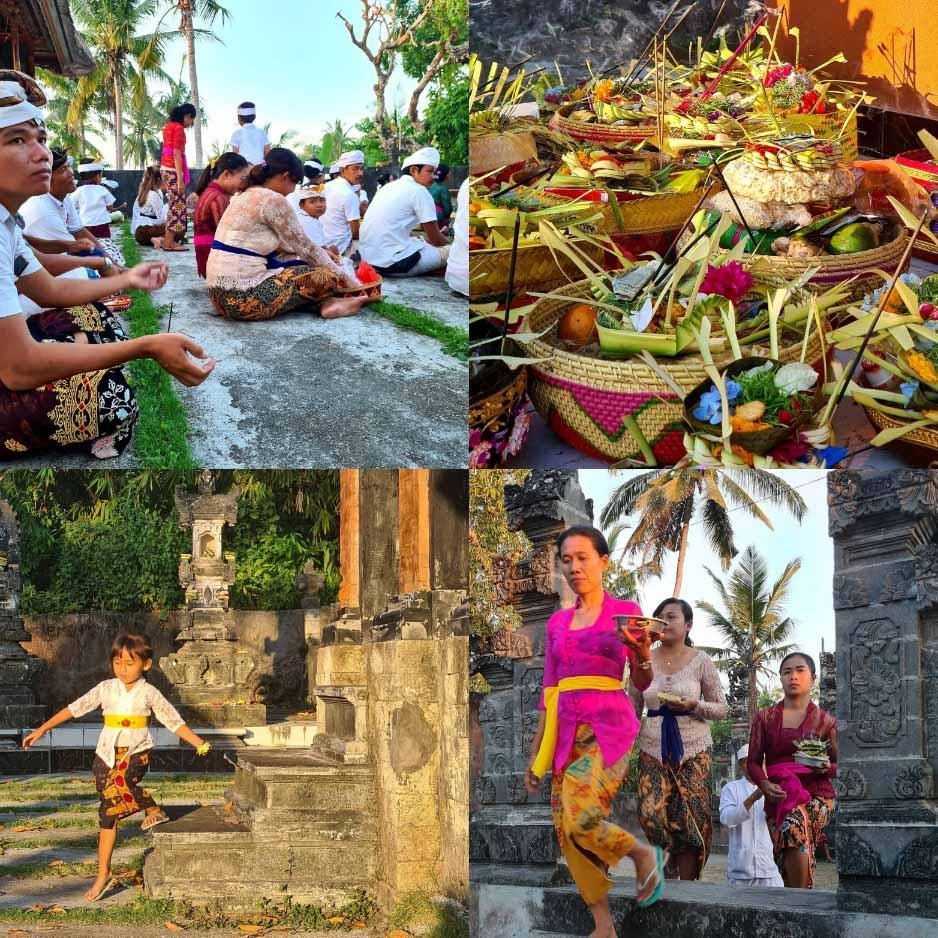 Hindu full moon celebration at Pura Dalem Saki, Nusa Penida, Indonesia Photo by Cara Rees