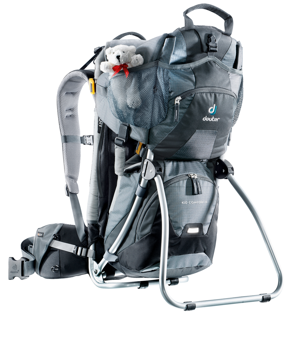 Deuter Kid Comfort II, child carrier baypack, Deuter Kid Comfort, child carrier, daysack, rucsacks, travel gear, baby carrying backpack